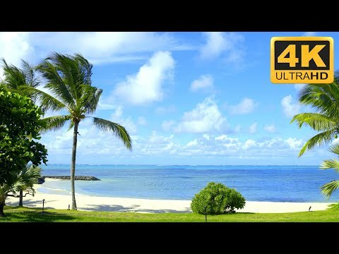 4k Beach Scene Wallpaper For Uhd Smart Tv Mauritius Beach Screensaver Youtube