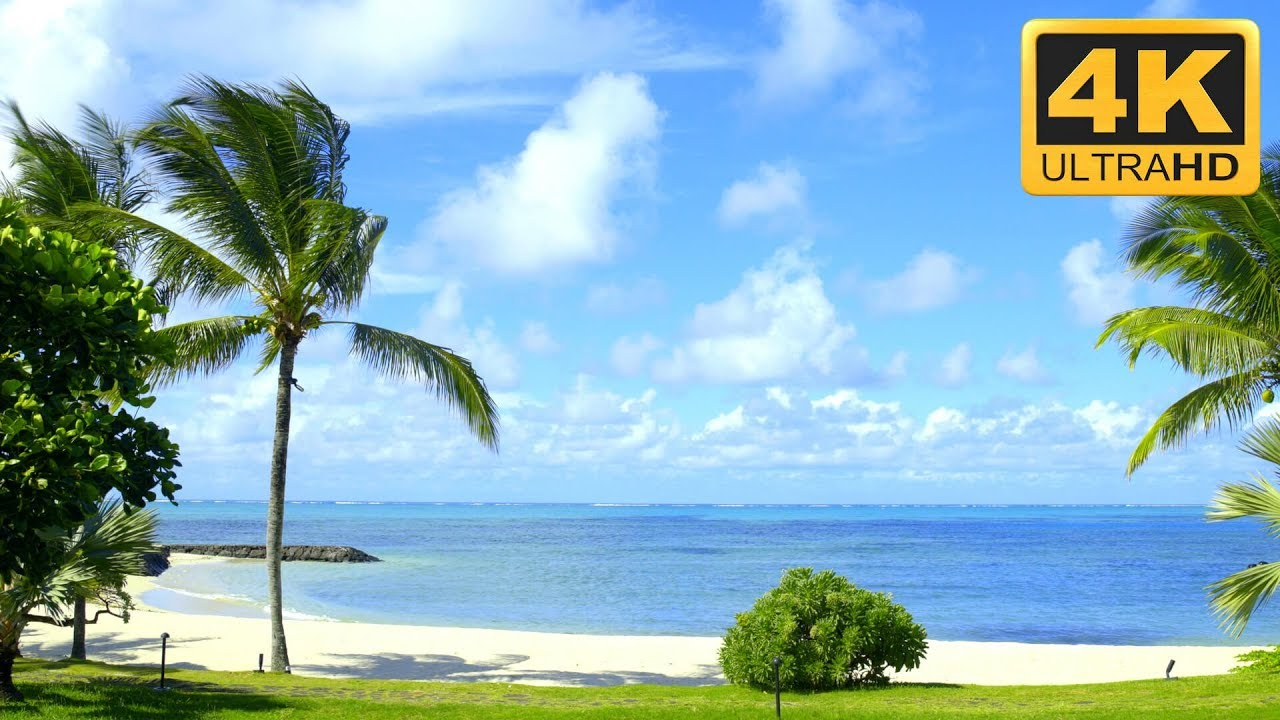 4k Beach Scene Wallpaper Uhd Smart Tv Mauritius Screensaver