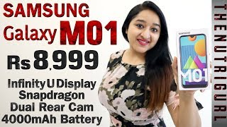 Samsung Galaxy M01 - Unboxing & Overview in HINDI (Retail Unit)