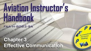aviation instructors handbook chapter 3 effective communication audio