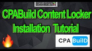 CPABuild Content Locker Implementation Tutorial 🔥