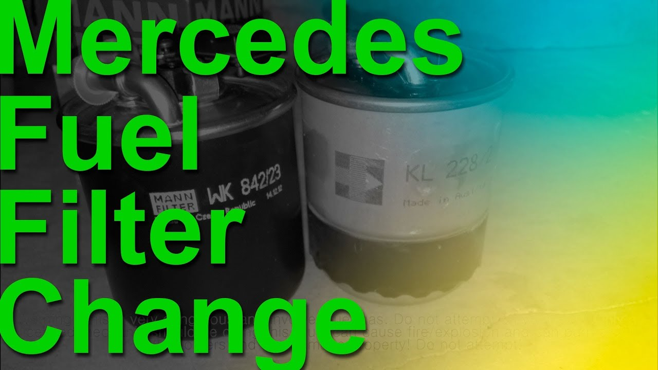 Mercedes Cdi Diesel Fuel Filter Change Youtube S320