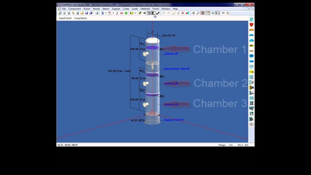 Design Multi-Chamber Vessels in COMPRESS by Codeware