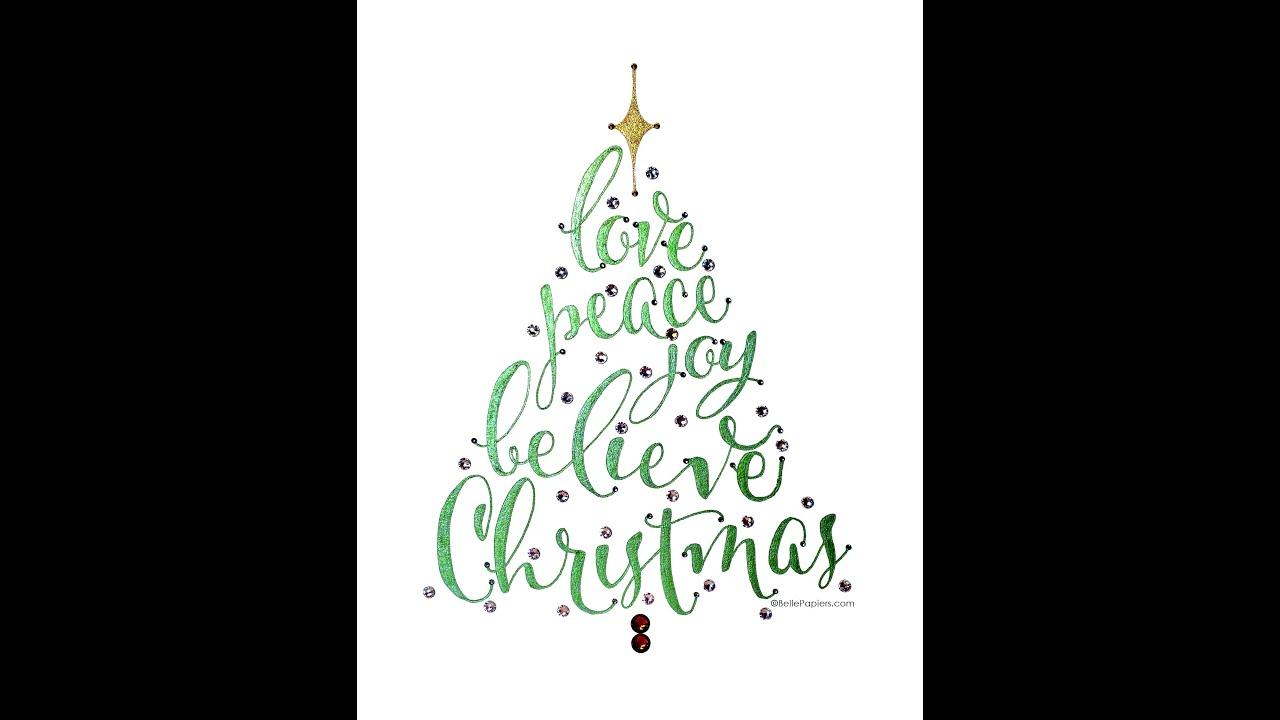 Christmas Tree Word Art Video Youtube