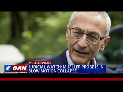 Judicial Watch: Mueller Probe is in Slow Motion Collapse