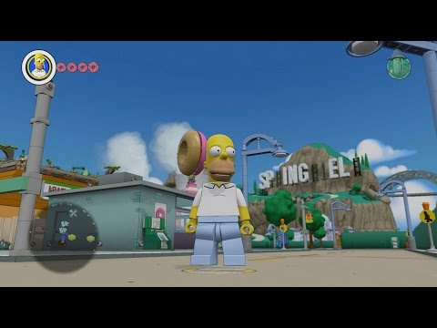 LEGO Dimensions - Simpsons Springfield - Open World Free Roam Gameplay