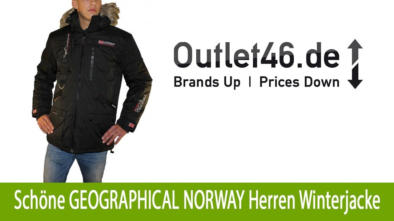 Schöne GEOGRAPHICAL NORWAY Outdoorjacke Herren Winterjacke online Schwarz |