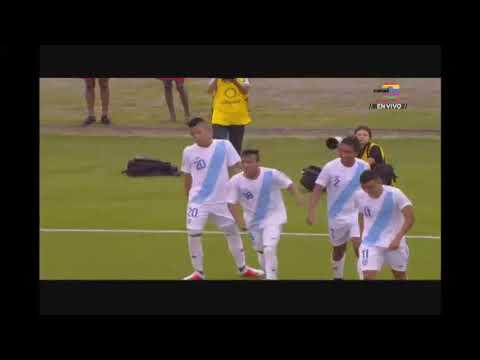 Guatemala en su debut en campeonato Sub20 gana 4 a 0 ante Guyana
