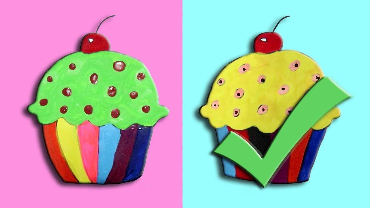 Challenge Menggambar Dan Mewarnai Cupcake Dengan Cat Air