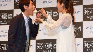 俳優の小泉孝太郎が7月10日、主演ドラマ「死の臓器」完成披露試写会...