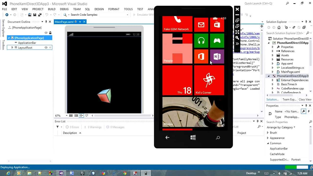 Create your first windows phone 8 3d app using visual studio 2012 create your first windows phone 8 3d app using visual studio 2012 and simulator on pc youtube ccuart Gallery