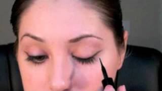 Holiday Party Look - Winged Eyeliner & Red Glossy Lips Thumbnail