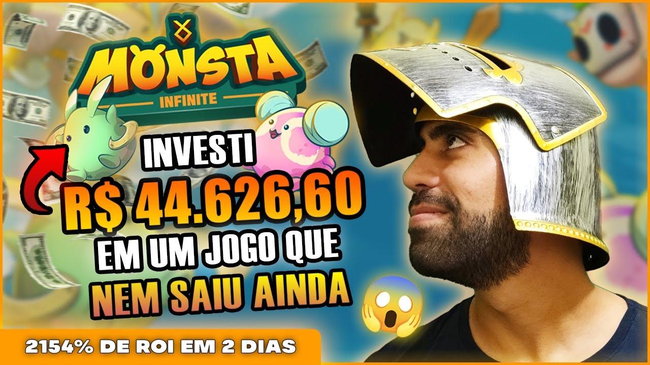 INVESTI R$44626,60 NA PRE VENDA DO MONSTA INFINITE NFT GAME