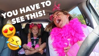 vuclip 4 YEAR OLD GIRL AND DADDY DO CUTEST CARPOOL KARAOKE EVER!!!