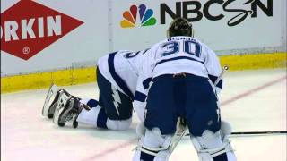 Garrison takes slash to knees from Andersson