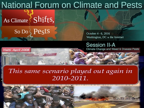 National Forum on Climate and Pests: Session II-A - Climate Change and Weed & Disease Pests