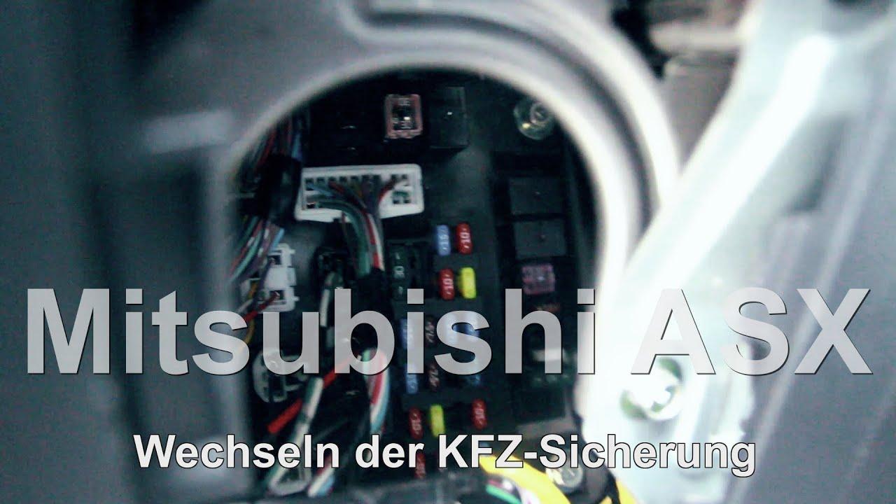 mitsubishi space wagon fuse box diagram fuse box mitsubishi space star mitsubishi asx // kfz- sicherungswechsel // automotive ...