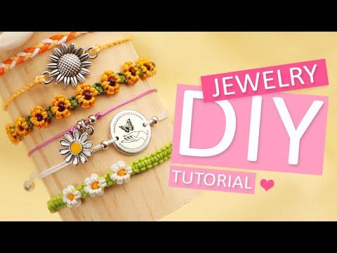Sieraden maken: Een macramé bloem armband - DIY
