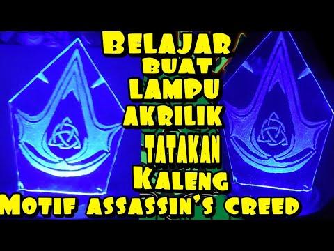 Membuat Lampu akrilik ,lampu hias/lampu tidur ,Logo unik ,assassin's creed ,menggunakan kaleng from YouTube · Duration:  4 minutes 47 seconds