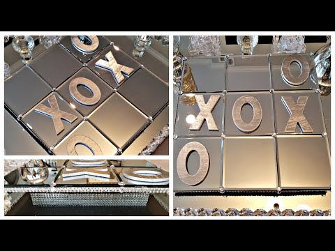 DIY Dollar Tree  Mirror Decor| Glam DIY Tic Tac Toe Game