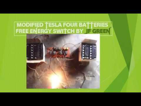 How a Nigerian inventor modified tesla's 4 batteries free energy switch using 4 relays