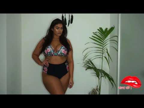 sexy plus size model with bikini - plus size model in sexy bikini