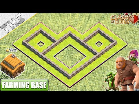 New BEST Town Hall 3 (TH3) Farming Base With REPLAY - Clash Of Clans