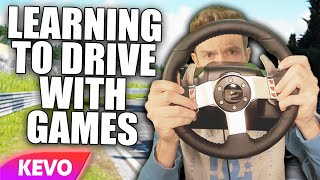 Learning to drive using video games and a steering wheel
