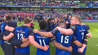 Leinster v Scarlets   Post-match on-pitch celebrations