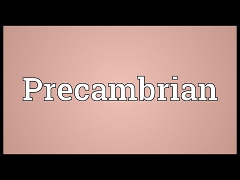 Precambrian Meaning