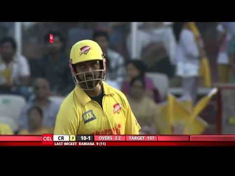 CCL 5 Semi Final 1 Chennai Rhinos Vs Karnataka Bulldozers 2nd Innings Part 1/4