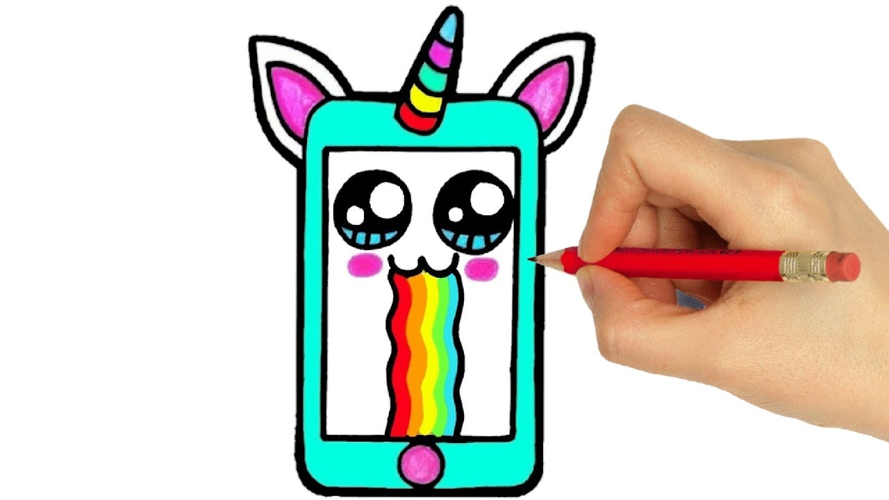 How To Draw Cell Phone How To Draw Smartphone Como Desenhar Um