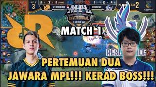MPLI RRQ VS RSG GAME 1, PERTEMUAN JUARA MPL, GAME PALING KERAS!