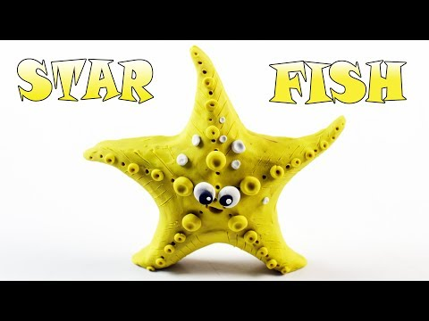 Learn How To Make Star Fish With Play Doh | Star Fish For Kids