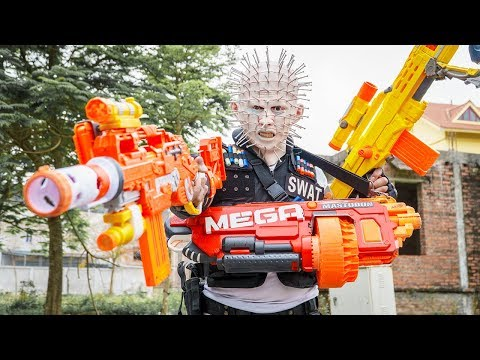 LTT Films : Couple Warriors Silver Flash Nerf Guns Fight Crime Group Tiger Mask Arms Trade