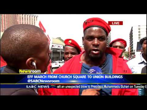 EFF march from Church Square to Union Building
