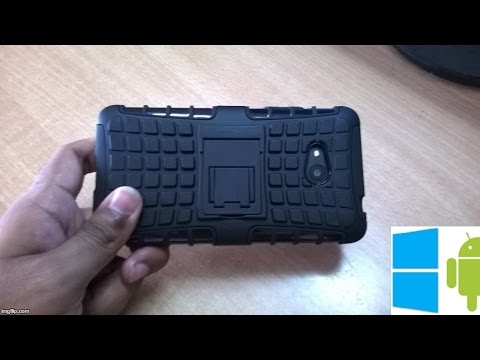 185) Tire case armor shockproof backcover for lumia 640 unboxing(aliexpress)