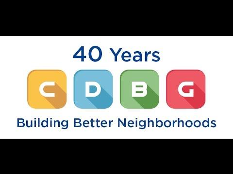 Celebrating 40 Years of CDBG Funding