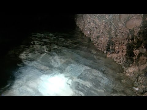 New water channel exploration, Ravne Tunnel Labyrinth, August 21, 2017