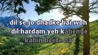 Gaata Rahe Mera Dil Guide Karaoke With Lyrics YouTube