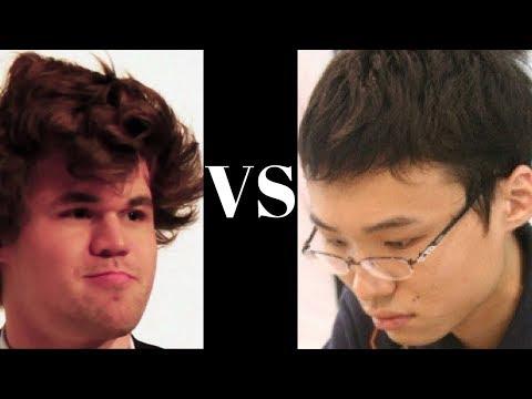 Magnus Carlsen vs Yu Yangyi - Qatar Masters Tiebreak playoff - Game 1 of 2