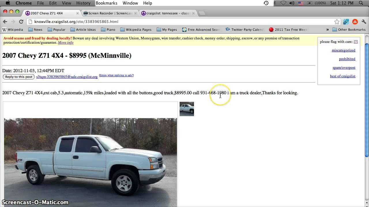 Chattanooga Tennessee Craigslist Cars And Trucks