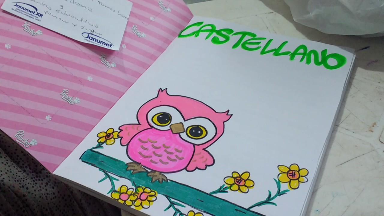 Cómo Marcar Cuadernos Dibujo De Búho Precioso Para Niñas