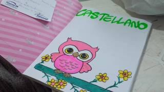 Marcar Cuadernos Con BDe Castellano Buho Y Flores From