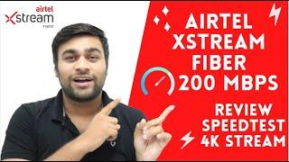 Airtel Xstream Fiber Broadband Review   200 Mbps Plan   4K Streaming   Sizzling SuperFast Internet🔥