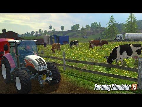 Farming Simulator 15 перевозка рулонов соломы