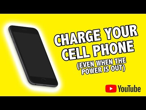 Charge your Cell phone when the power is out !