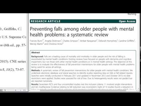 How to Cite a Journal Article Freely Available Online with a DOI