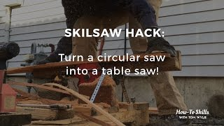 Skilsaw & Pallet Converted Into Table Saw: DANGEROUS But Effective!!