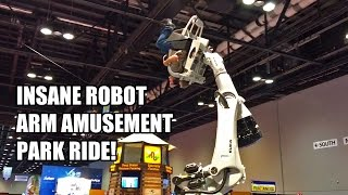 Kuka RoboCoaster Insane Amusement Park Ride POV from IAAPA 2015